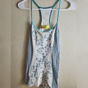 Free People Blue Floral Boho Sleeveless Tank Top